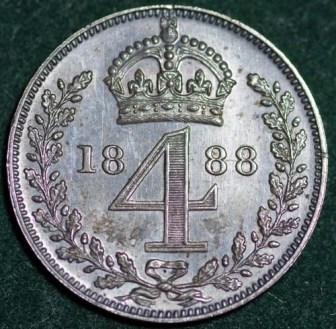 1888 Maundy 4d Rev