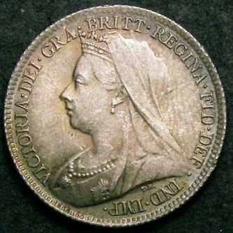 1899 Sixpence Victoria Obv Web