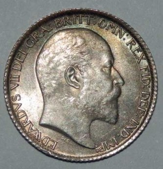 1903 Sixpence Obv Small