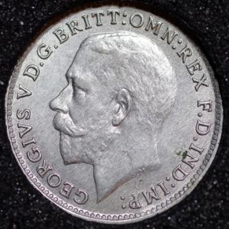 1921 George V Silver Threepence Obv