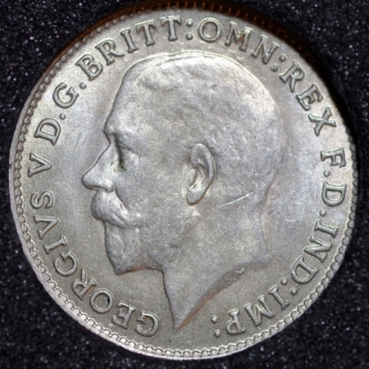 1922 George V Silver Threepence Obv