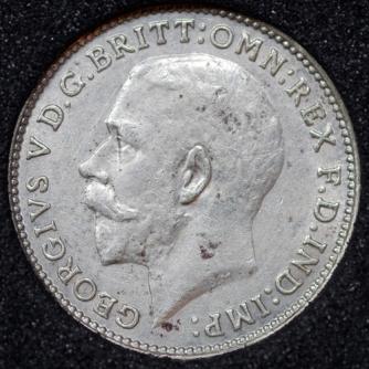1925 George V Silver Threepence Obv