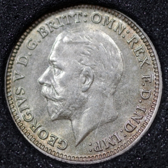 1932 George V Silver Threepence Obv