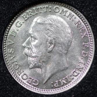 1933 George VI Silver Threepence Obv
