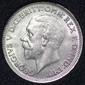 1934 George V Sixpence Obv