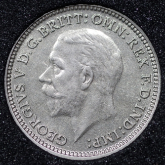 1935 George VI Silver Threepence Obv