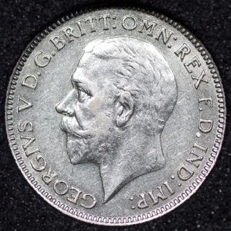 1936 George V Sixpence Obv