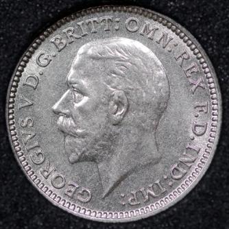 1936 George VI Silver Threepence Obv