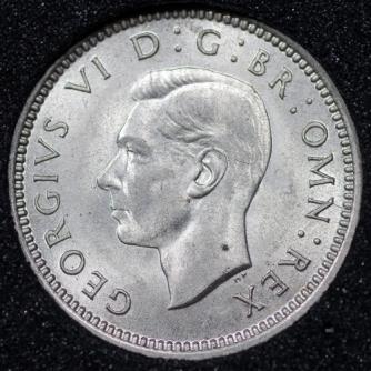 1937 George VI Silver Threepence Obv