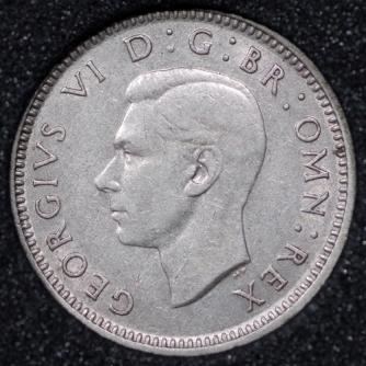 1938 George VI Silver Threepence Obv