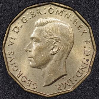 1940 George VI Threepence Obv