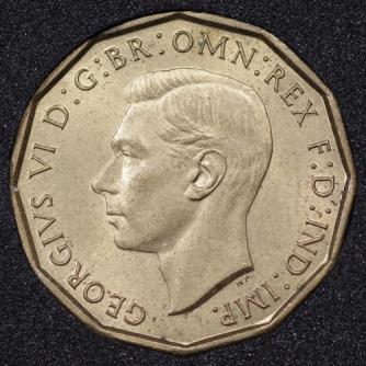 1941 George VI Threepence Obv