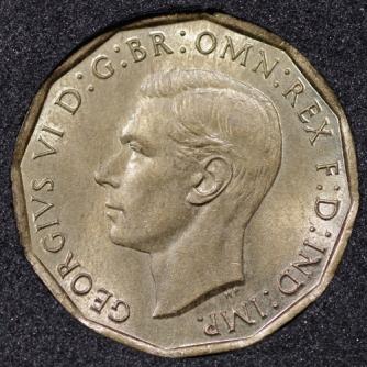 1943 George VI Threepence Obv