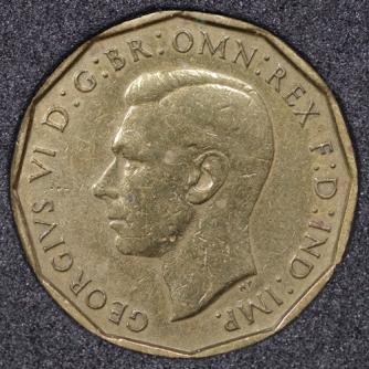 1946 George VI Threepence Obv