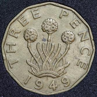 1949 George VI Threepence Rev