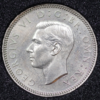 1950 George VI PROOF Sixpence Obv