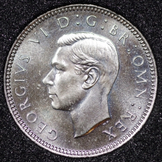 1951 George VI PROOF Sixpence Obv