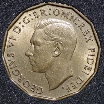 1952 George VI Threepence Obv