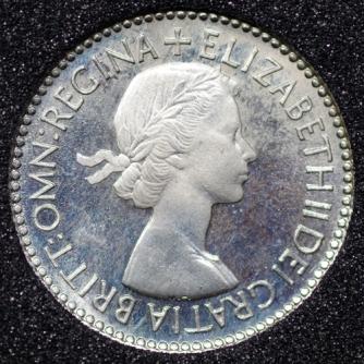 1953 Elizabeth II PROOF Sixpence Obv