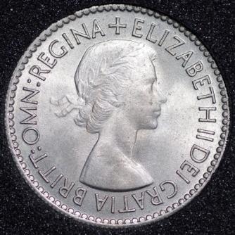 1953 Elizabeth II Sixpence 1+A Obv