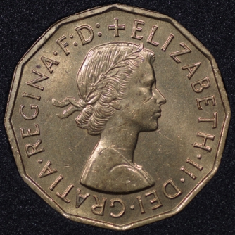 1957 Threepence Obv