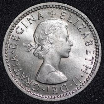 1959 Elizabeth II Sixpence Obv