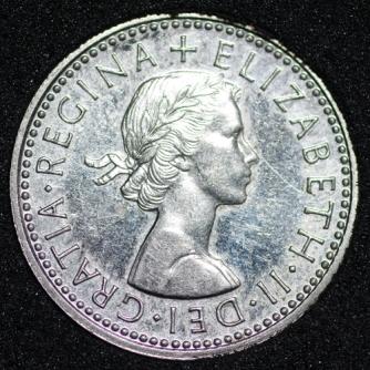 1970 Elizabeth II PROOF Sixpence Obv