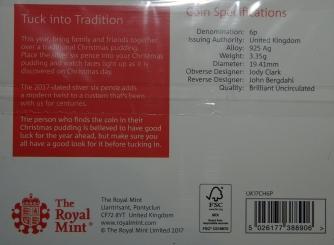 Royal Mint 2017 Christmas Sixpence Packaging Rev