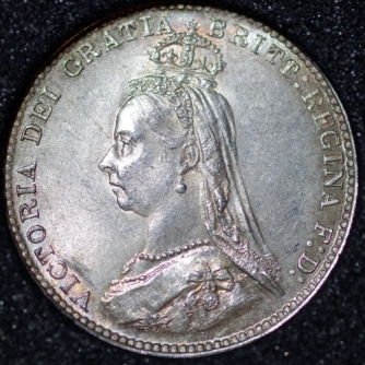 1887 Threepence 3d Victoria Obv Website