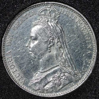 1887 Victoria Wreath Type Sixpence Obv