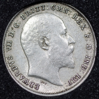 1903 Edward VII Silver Threepence Obv