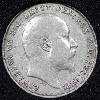 1904 Edward VII Silver Threepence Obv