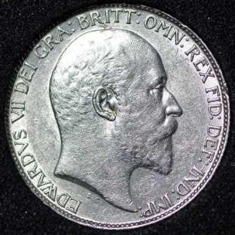 1910 Edward VII Sixpence Obv