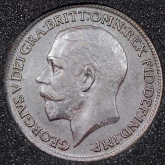 1916 George V Farthing DARKENED Obv
