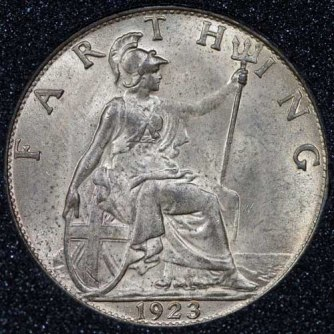 1923 George V Farthing Rev