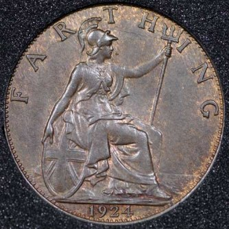 1924 George V Farthing Rev
