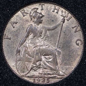 1925 George V Farthing Rev