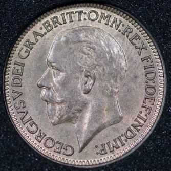 1927 George V Farthing Obv