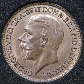1933 George V Farthing Obv