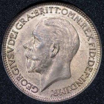 1934 George V Farthing Obv