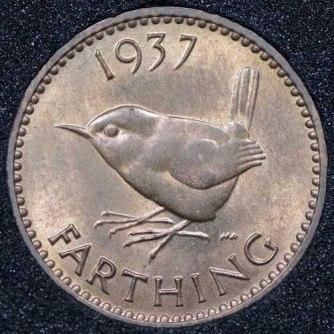 1937 George VI Farthing Rev