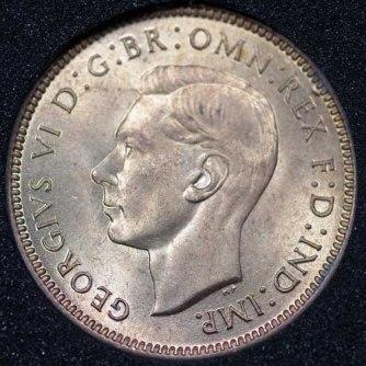 1941 George VI Farthing Obv