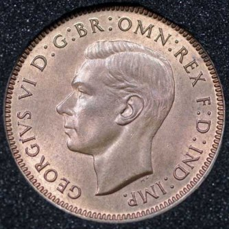 1945 George VI Farthing Obv