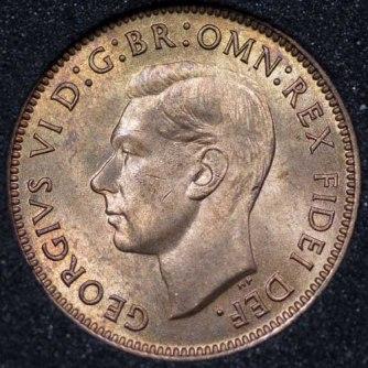 1949 George VI Farthing Obv