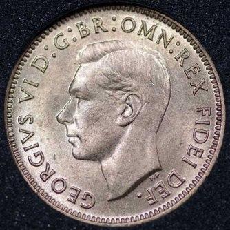 1951 George VI Farthing Obv
