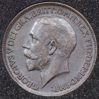 1911 George V Farthing DARKENED Obv