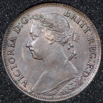 1884 Farthing Obv