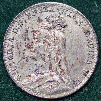 1888 Maundy 1d Obv 2nd Set