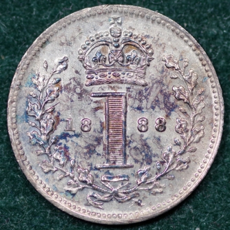 1888 Maundy 1d Rev 2nd Set
