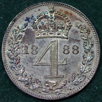 1888 Maundy 4d Rev 2nd Set